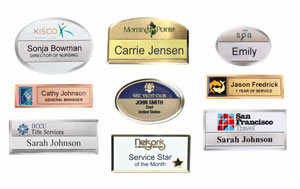 Classic Beveled Metal Name Badge