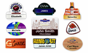 30 & 40 Mil Plastic Name Badges