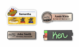 Molded Plastic Name Badges