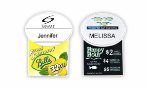 Plastic Billboard Name Badges