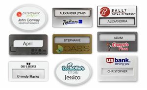 Plastic Window Name Badges