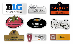 2-Ply Plastic Name Badges